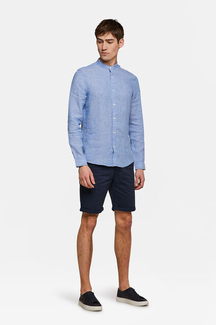 Heren regular fit chino short Marineblauw