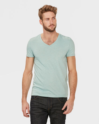 HEREN V-NECK T-SHIRT Mintgroen