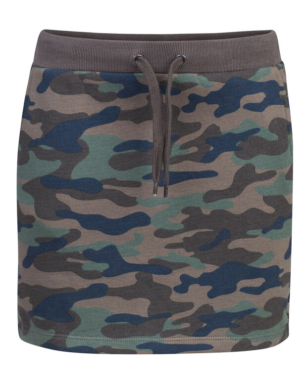 JUPE CAMOUFLAGE FILLE Vert