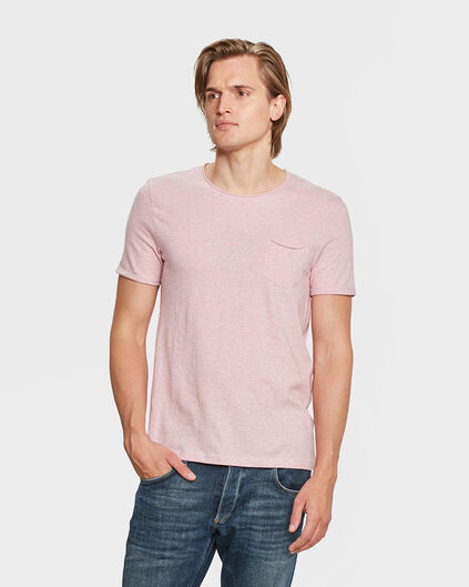 HEREN SLIM FIT R-NECK T-SHIRT Roze