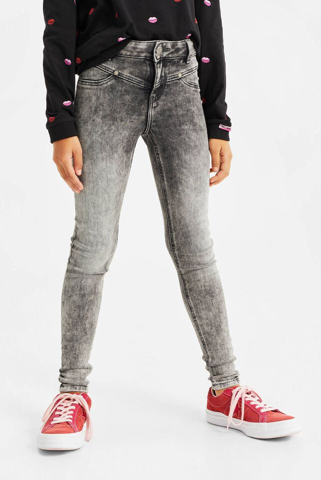 Jeggings super skinny fit fille Gris