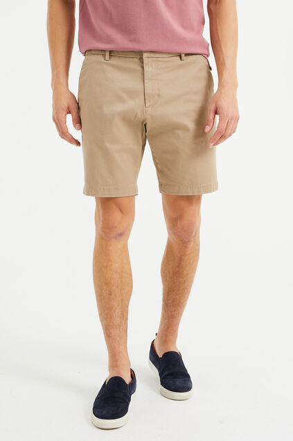 Heren relaxed fit chinoshort Beige