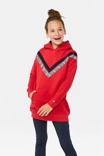 Robe sweat fille Rouge vif
