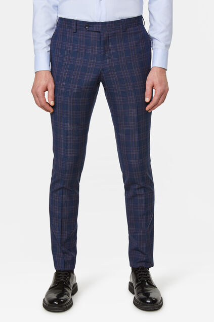 Heren slim fit pantalon Trapani All-over print