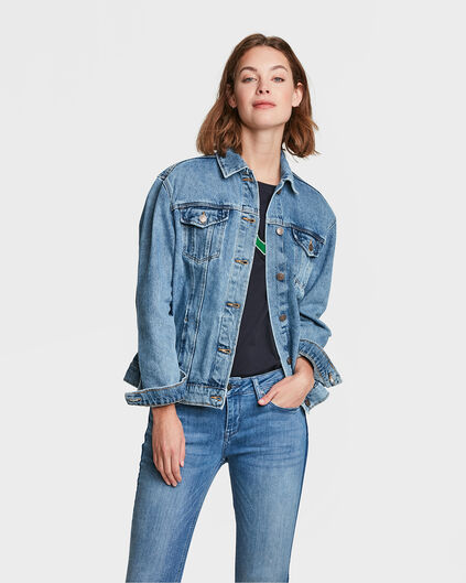 DAMES OVERSIZED DENIM JACKET Lichtblauw