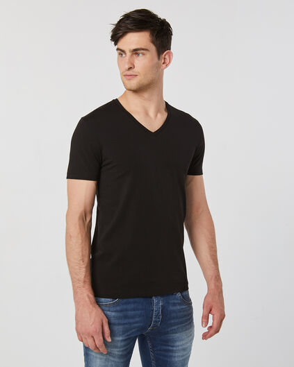 HEREN V-NECK T-SHIRT Zwart