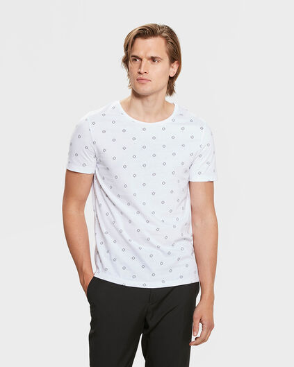 T-SHIRT SLIM FIT GRAPHIC PRINT HOMME Blanc