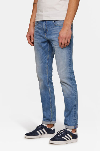 Heren regular fit straight leg jeans Lichtblauw
