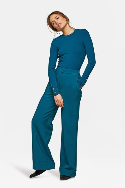 Dames wide leg pantalon Groen