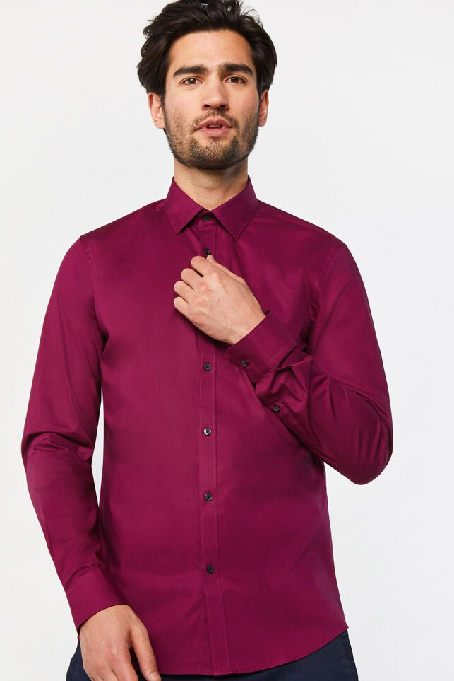 Chemise slim fit stretch homme Violet