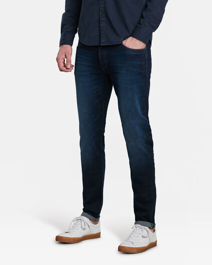 HEREN SKINNY TAPERED STRETCH JEANS Blauw