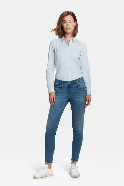 DAMES MID RISE SUPER SKINNY HIGH STRETCH JEANS Lichtblauw