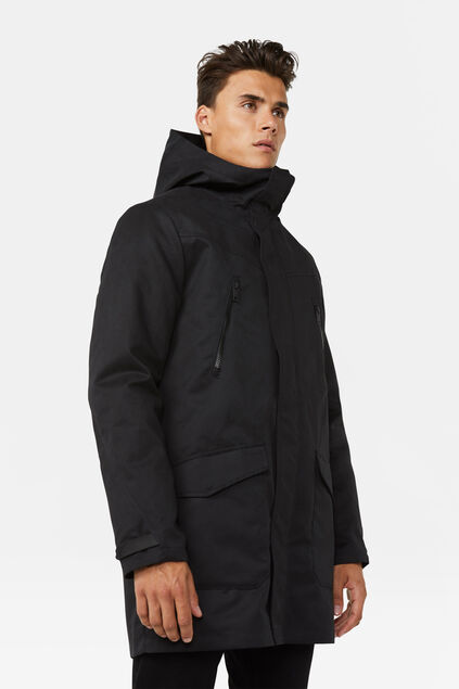 Heren 2 in 1 parka Zwart