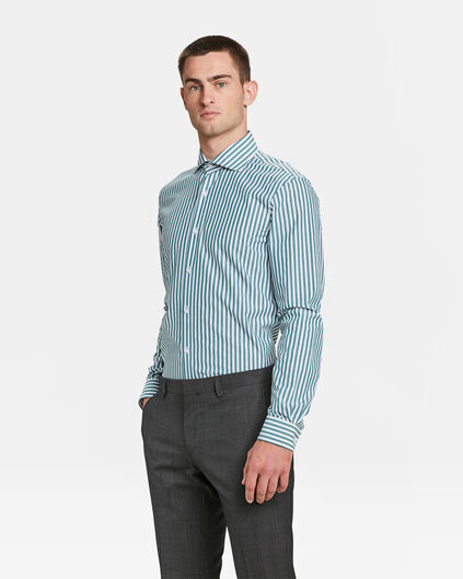 CHEMISE SLIM FIT À RAYURES HOMME Vert