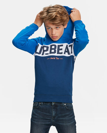 SWEATER A CAPUCHON IMPRIME UP BEAT GARÇON Bleu vif