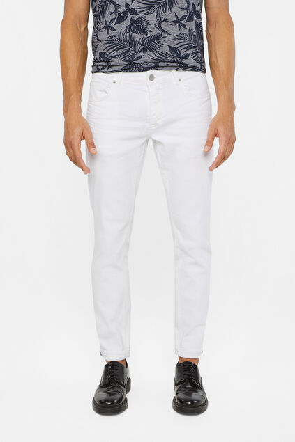Jeans slim fit homme Blanc