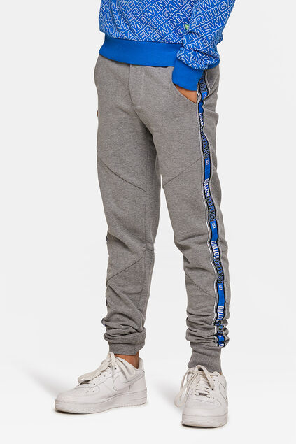 Pantalon sweat sporty stripe garçon Gris
