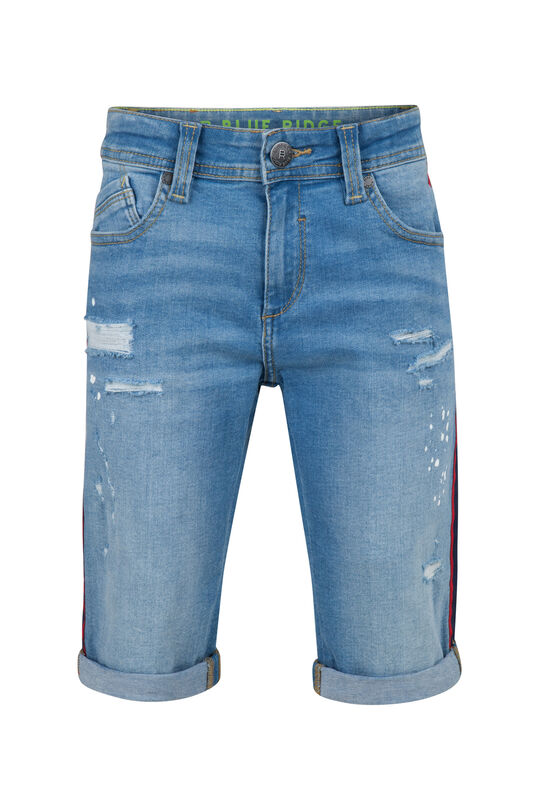 Jongens tape denim short Blauw