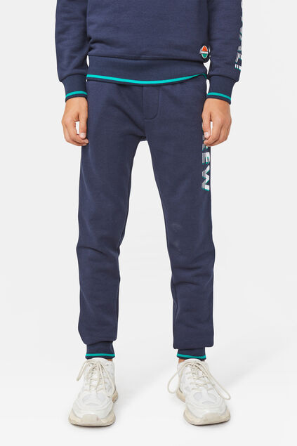 Jongens sporty stripe sweatpants Marineblauw