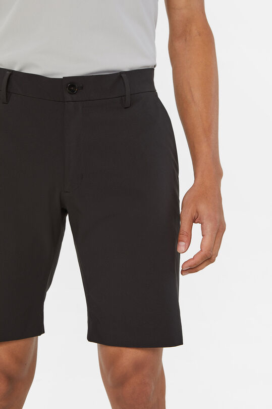 Heren hybrid lichtgewicht slim fit chinoshort Tech Zwart