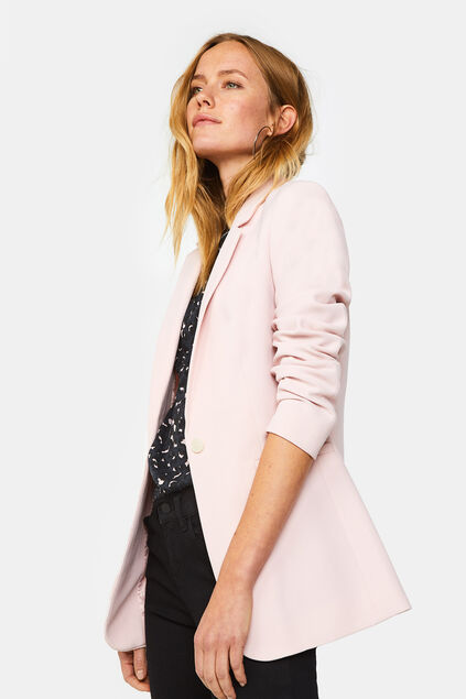 Blazer regular fit structuré femme Rose clair