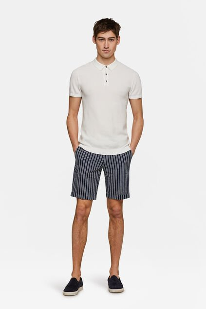 Heren slim fit short Stuart Blauw