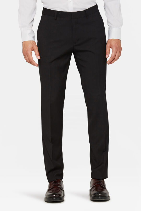 Heren regular fit dali pantalon Zwart