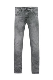 Heren tapered jog denim jeans_Heren tapered jog denim jeans, Lichtgrijs