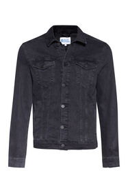 Heren denim jacket_Heren denim jacket, Zwart