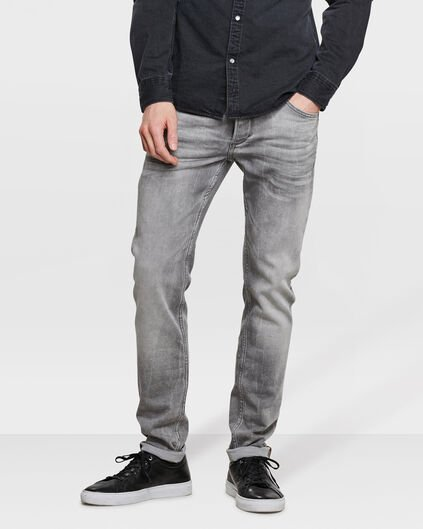 HEREN SKINNY TAPERED JOG DENIM Grijs