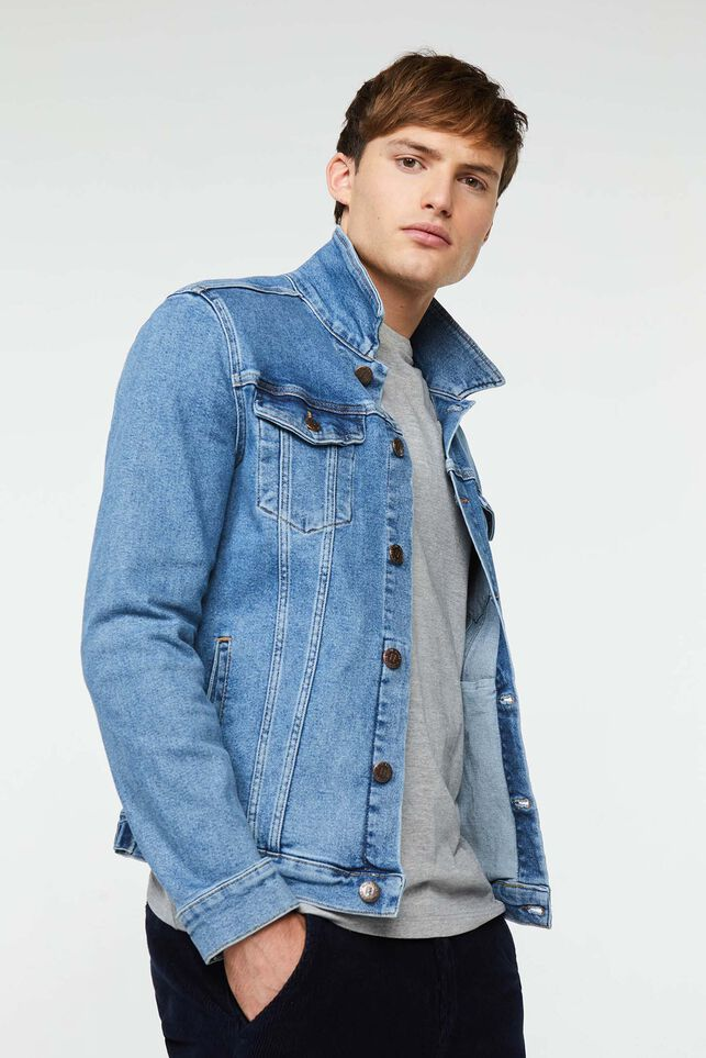 Heren denim jacket Blauw