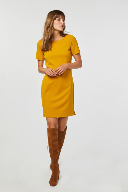 Robe regular fit femme Jaune ocre