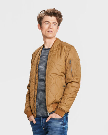 HEREN QUILTED BOMBER JACKET Roestbruin