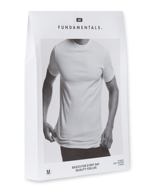 Heren T-shirt, 2-pack Zwart