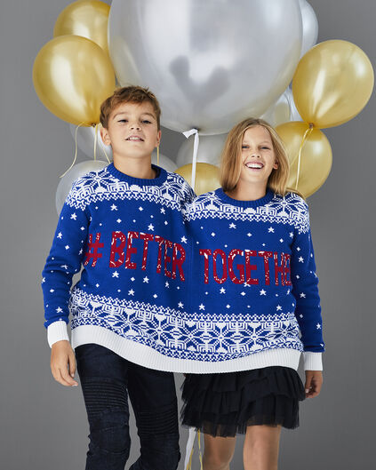 KID'S BETTER TOGETHER TRUI Blauw