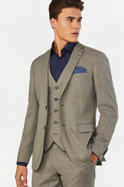 Heren slim fit blazer Middleton Grijsgroen