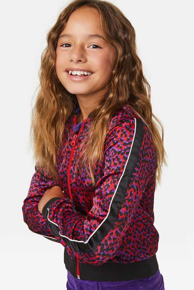 Meisjes luipaarddessin bomber All-over print