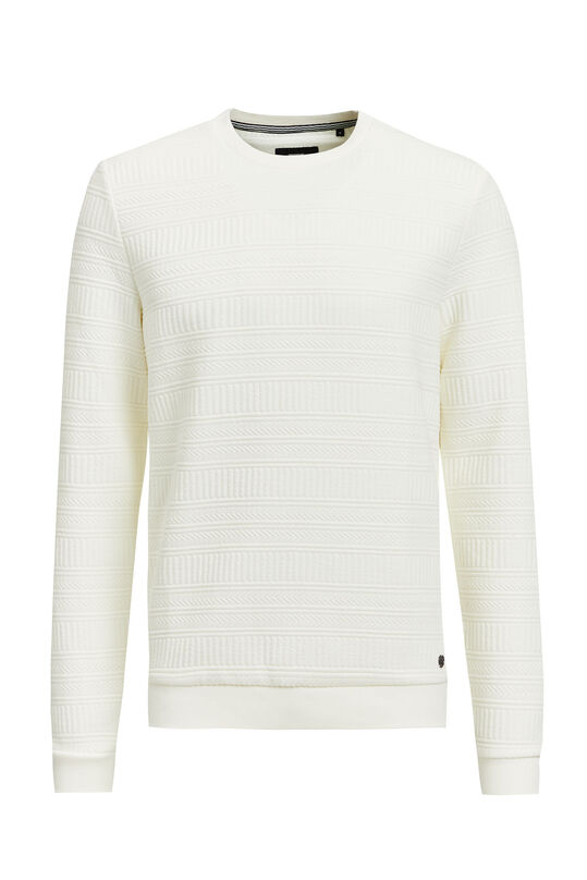 Sweat-shirt homme Blanc cassé
