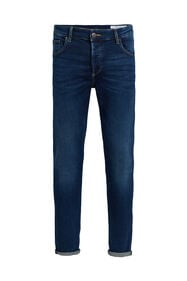 Heren skinny fit jog denim jeans_Heren skinny fit jog denim jeans, Donkerblauw