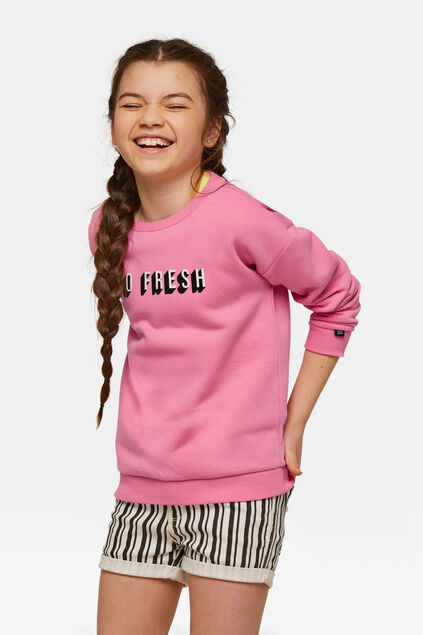 Sweat-shirt fille Rose
