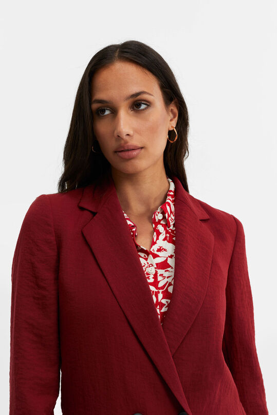 Dames regular fit double-breasted blazer Rood