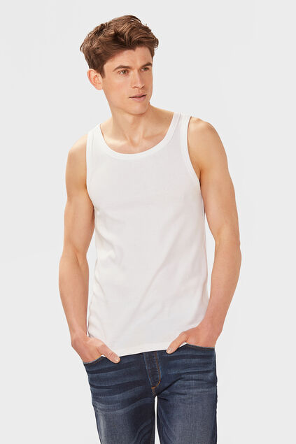 Heren organic cotton singlet Wit