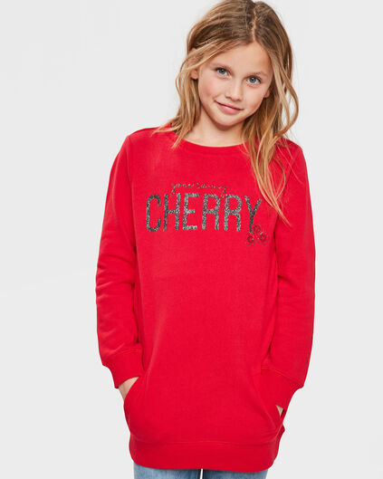ROBE SWEATER CHERRY FILLE Rouge