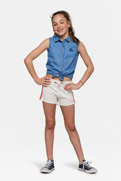 Meisjes sunshine short Wit
