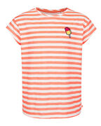 T-SHIRT STRIPED FILLE_T-SHIRT STRIPED FILLE, Rose