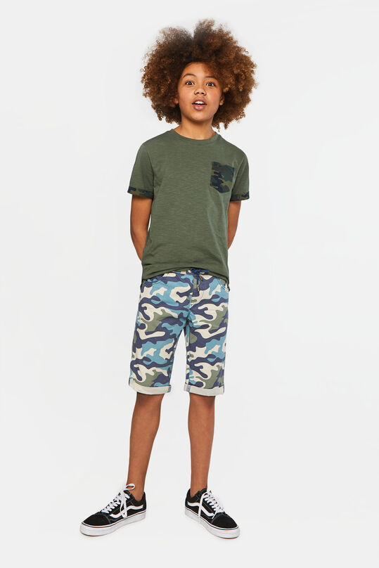 Jongens short met camouflagedessin All-over print