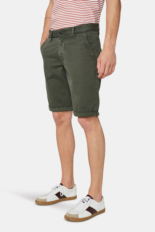 Short chino long fit homme Vert armee