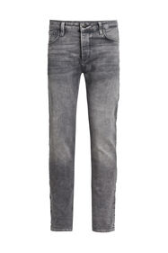 Heren skinny fit jog denim jeans_Heren skinny fit jog denim jeans, Grijs