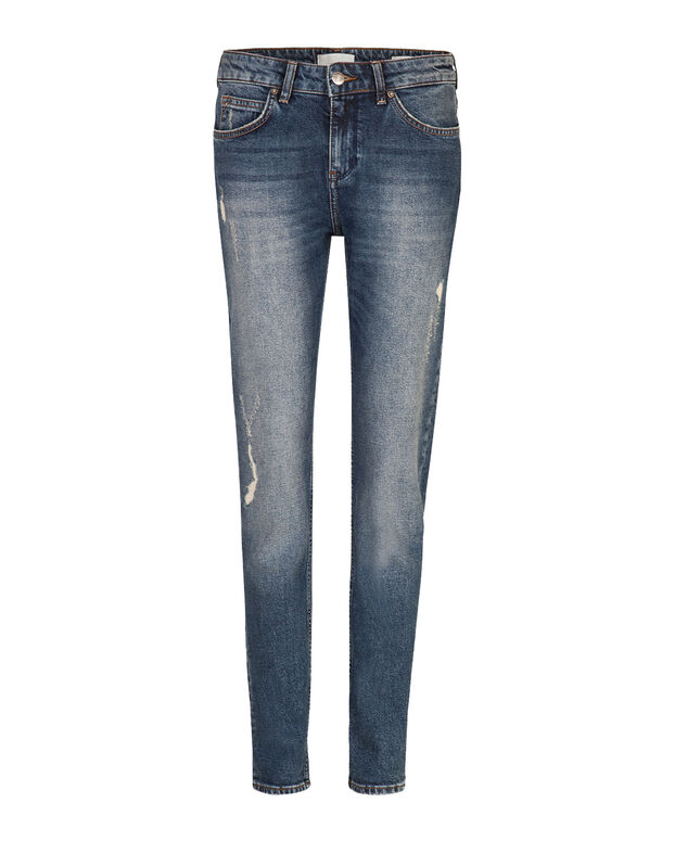 DAMES LOW/MID RISE BOYFRIEND COMFORT STRETCH JEANS Blauw