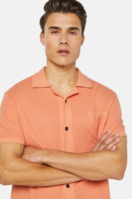 Polo de fin jersey à fermeture boutonnée homme Orange